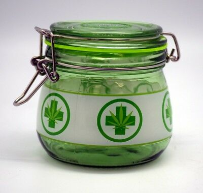Large Glass Silicone Sealed Jar for Herb and Tobacco Storage 4 inches tall