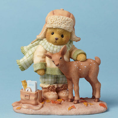 Cherished Teddies Friends At First Sight Bear with Deer Autumn Figurine