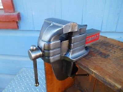 Vintage  Stanley No.776, 3'' Jaw Portable,table Mount Bench Vise,made In Usa