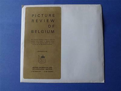 Picture Review Of Belgium Sheet Of Views Corresponding Captions Vintage 1975