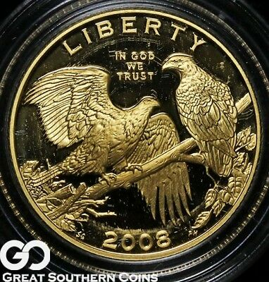 2008-W Liberty Commemorative Gold, $5 Gold DEEP CAMEO PROOF ** Free Shipping!