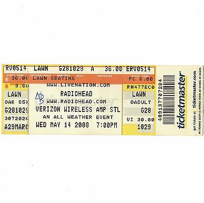 RADIOHEAD & LIARS Full Concert Ticket Stub ST LOUIS MO 5/14/08 IN RAINBOWS TOUR