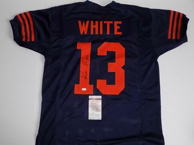 Kevin White signed autograph Chicago Bears custom Navy Throwback Jersey JSA COA