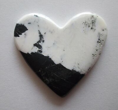 58.20 ct 100% Natural White Buffalo Howlite Cabochon Heart Gemstone, # DP 043
