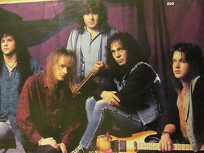 Dio, Extreme, Double Full Page Vintage Pinup, Ronnie James Dio