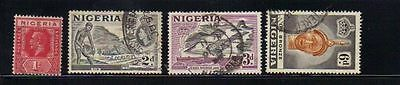 Nigeria 4 old used stamps