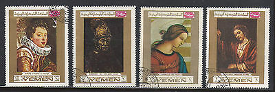 Yemen 4 old used stamps