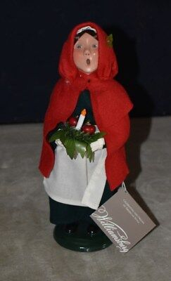 Rare! Byers' Choice -  Williamsburg - Girl Holding Apples And Candle –2006 W/tag