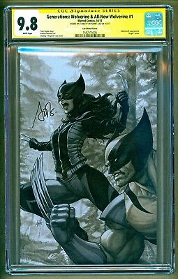 Generations All New Wolverine #1 Signed Stanley Artgerm Lau B&W Variant CGC 9.8