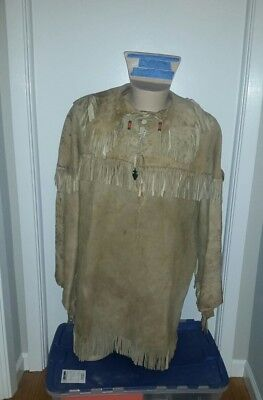 Native American Indian Scout Buckskin Shirt, fringed