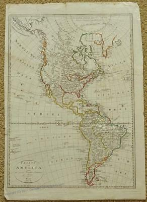 North South America Mexico USA 1818 Large Antique Map 38652