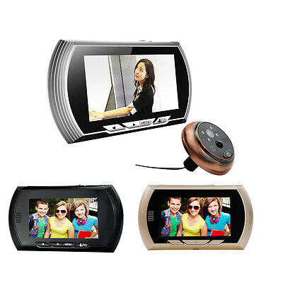 "4.3"" 140°HOME HIGH SECURITY DOOR VIEWER Wide Angle Spy Peep Hole LCD Camera US"