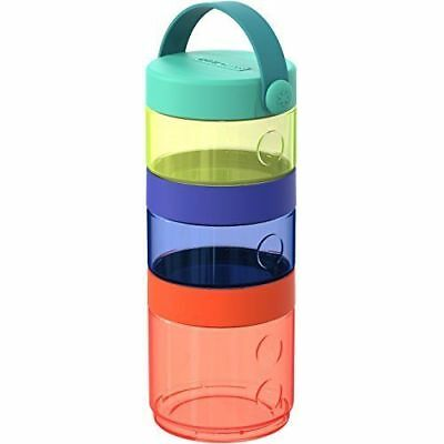 Skip Hop Baby Grab and Go 7-Piece Formula-to-Food Container Mealtime Set, Multi