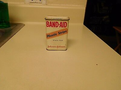 """Nice Oldie """" Band-Aid """" Plastic Strips Empty Tin"""