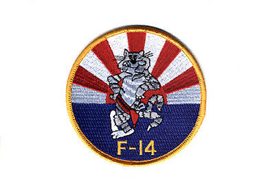 USN/NAVY VF-111 SUN DOWNERS TOMCAT MASCOT PATCH(Red belt),F-14A TOMCAT