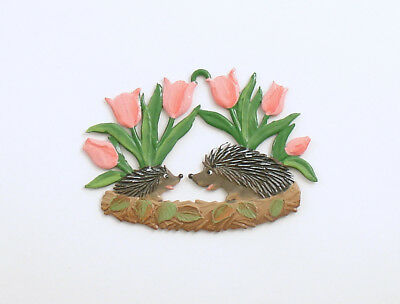 Ornament Hedgehogs Tulips Wilhelm Schweizer Germany