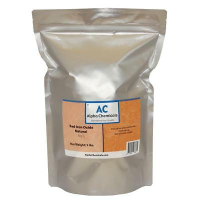 5 lb Red Iron Oxide  - Fe2O3 - Natural Source