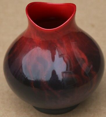 LOVELY OLD ROYAL DOULTON FLAMBE VEINED VASE No 1605