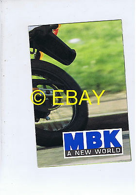 Catalogue MBK gamme cyclomoteurs 1999 (France)