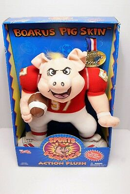 Sports Hawgs BOARUS PIG SKIN Football Plush Buddy Toy Box Collections 1998