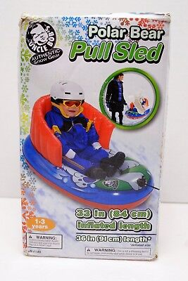 Uncle Bob's Polar Bear Inflatable Pull Sled, 1 - 3 Years NEW!