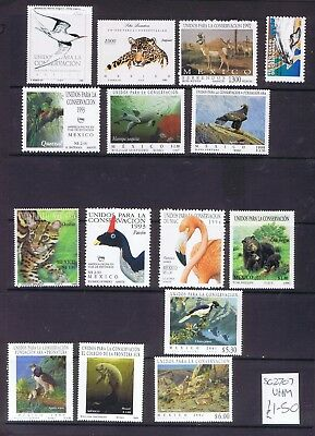 Mexico lovely lot of conservation related stamps Flowers Birds Fish all mint MNH