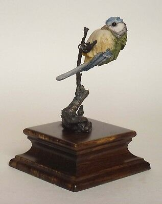 Country Artists Blue Tit on Bronze Branch