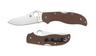 Spyderco C90GBNPE2 Stretch Brown G-10 PlainEdge
