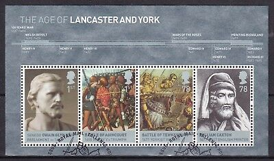Gb 2008 House Of Lancaster & York S/s (3) Used