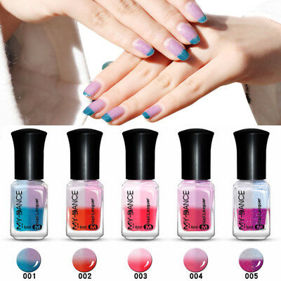 6ml Thermal Nail Polish Peel Off Temperature 4 Colors Changing Varnish Manicure
