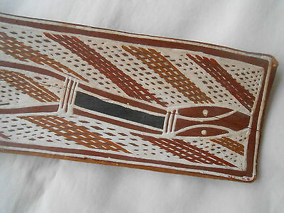 aboriginal ART BARK PAINTING....SNAKE...BLYTH RIVER AREA...ROBIN GUNINGBAL