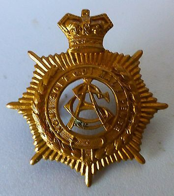 BRITISH BOER WAR ARMY SERVICE CORPS BRASS QVC CAP BADGE found in SOUTH AFRICA
