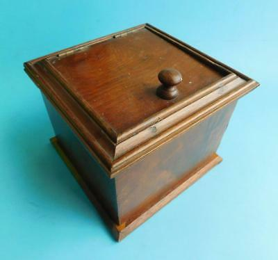 Colonial era Tea Caddy or Tobacco Humidor Box 1800s Australian Native Woods?