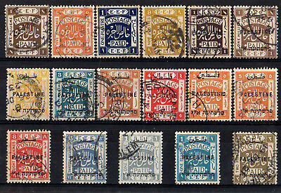 Palestine 1918 - 1921 Collection Of 17 Stamps & Overprints Good Used High Cat. £