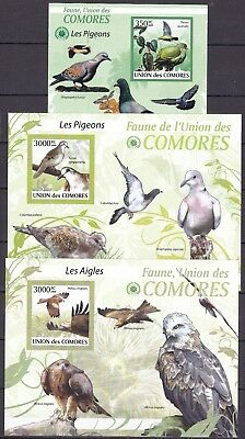 COMOROS 3 X DIFFERENT BIRD S/Ss (36) MINT NEVER HINGED