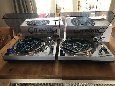 Citronic Pd-1S Mk2 Turntables X2