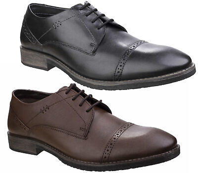 Mens Hush Puppies Craig Luganda Smart Derby Leather Shoes Sizes 6 to 12