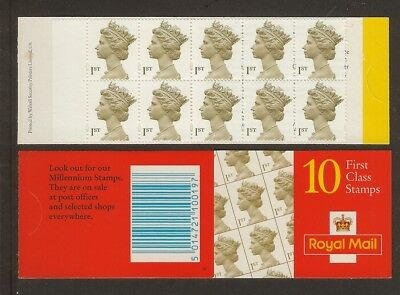 GB Stamps: Decimal Machin Barcode Booklet HD53a.