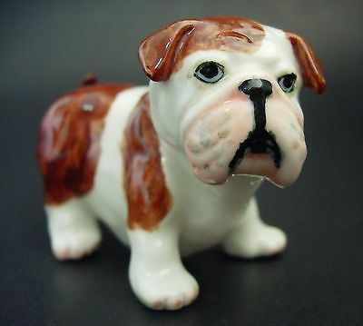 Ceramic British BULL DOG Curio Display Animal Porcelain Ornament Ceramic Animal