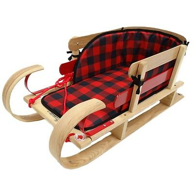 Grizzly Kinder Sleigh With Plaid Pad