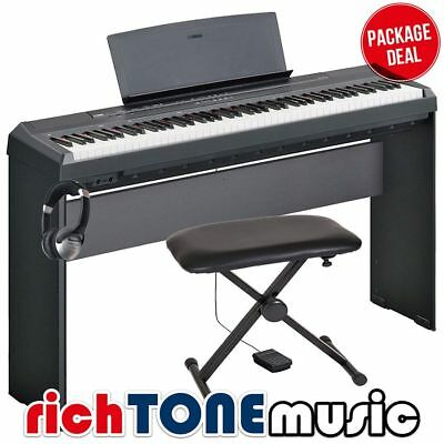 Yamaha P-45 Portable Piano - Black - Stand and Pedal Package