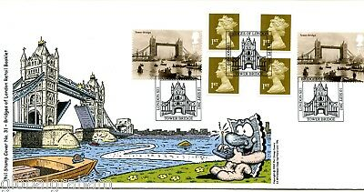 2002 Bridges Self-Ad. Book Great Britain Phil Stamp Illustrated Fdc 55/100 Vgc