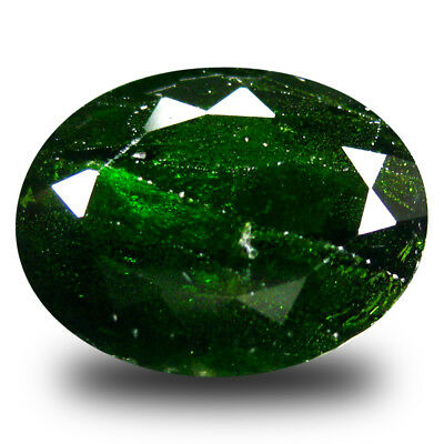 6.08 ct  Magnificent Oval Shape (13 x 10 mm) Green Chrome Diopside Gemstone