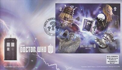 Gb Stamps Mini Sheet First Day Cover 2013 Dr Who London W6 Rare Pmk Collection