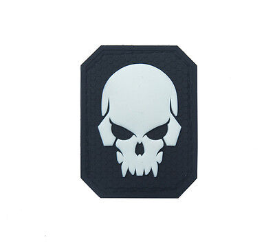 Skeleton ARMY TACTICAL  MORALE BADGE  rubber HOOK PATCH   SH+ 928