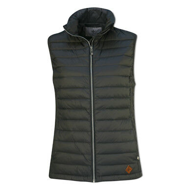 Cross Down Gilet with Shaped Fit in Charcoal