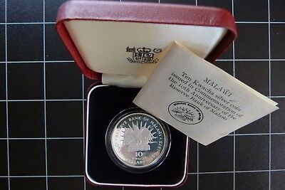 1975 Malawi 10 Kwacha Proof Silver Crown Coin Royal Mint cased