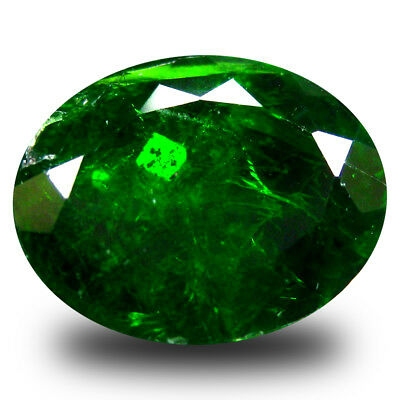 4.26 ct  Remarkable Oval Shape (11 x 9 mm) Green Chrome Diopside Gemstone