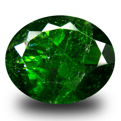 4.20 ct  Marvelous Oval Shape (12 x 10 mm) Green Chrome Diopside Gemstone