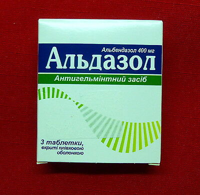 Aldazol Human Anti Worms, Dewormer for People no-Prescription Albendazole